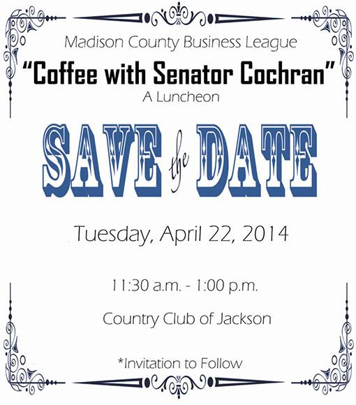 Save the Date: Coffee with Senator Cochran