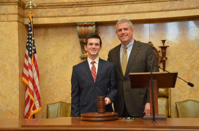 Enzo Di Vece with House Speaker Philip Gunn